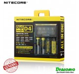 Authentic Nitecore D4 Charger LCD Panel Li-ion 18650 26650 18350 14500